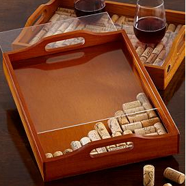 Wine cork tray kit