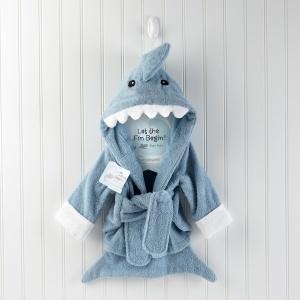"""Let the Fin Begin"" Terry Shark Robe"