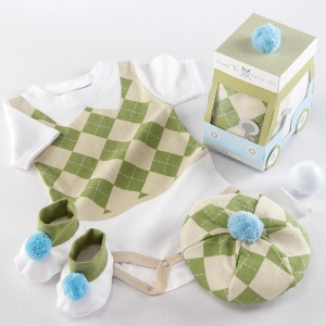 """Sweet Tee"" Three Piece Golf Layette Set"