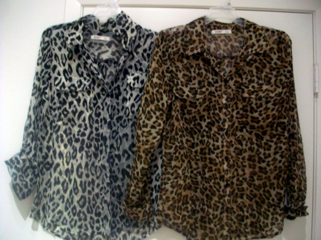 Old Navy Leopard blouses
