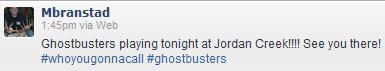 Ghostbusters Tweet