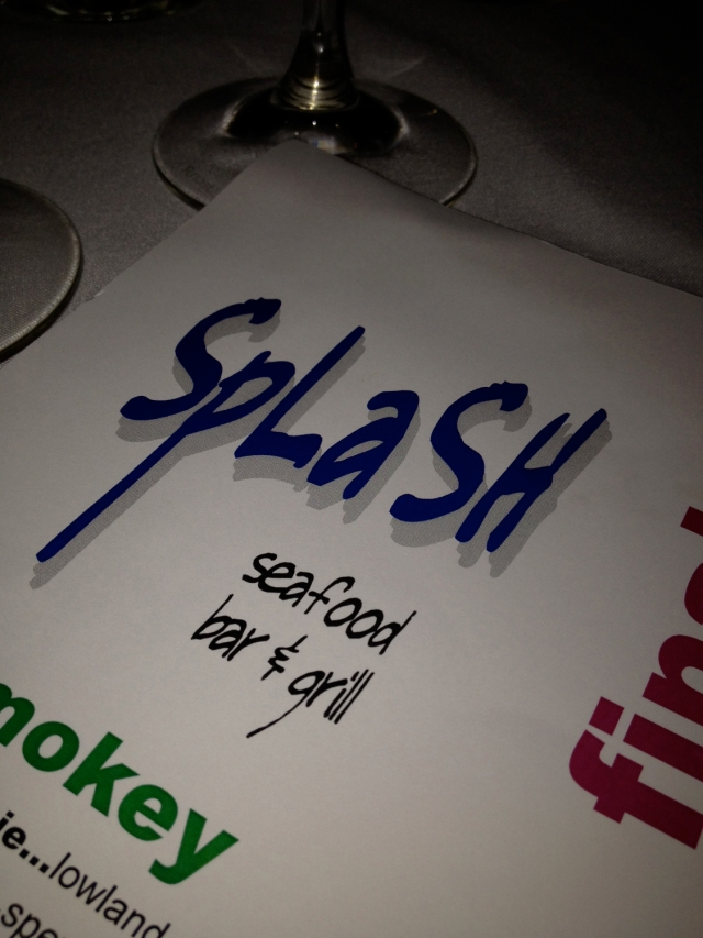 A fabulous birthday dinner at Splash.