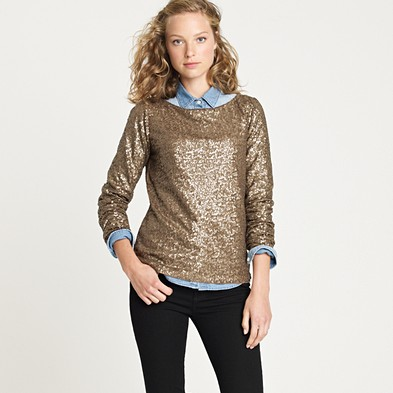 Jcrew Glimmer long-sleeve tee