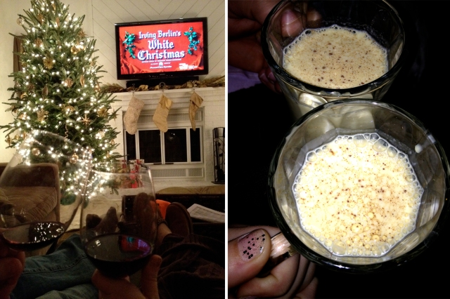 White Christmas and egg nog