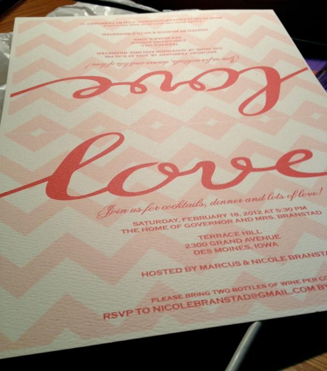 Valentine Dinner invites