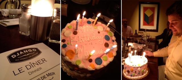 Champagne cake and Django
