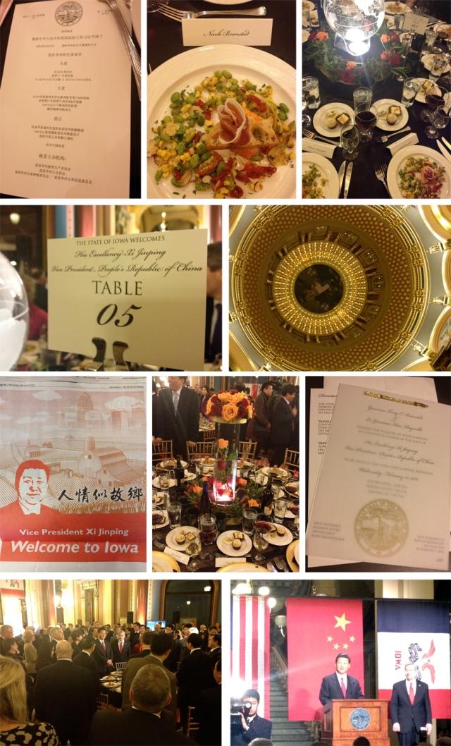 VP Xi visit to Iowa - State Dinner