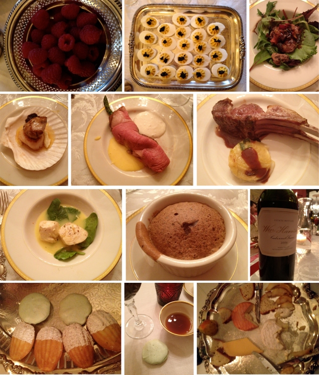 The feast (minus the two courses I missed taking photos of)