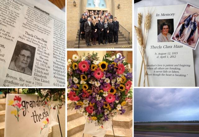 Grandma Haas funeral