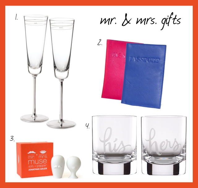 mr. and mrs. gifts