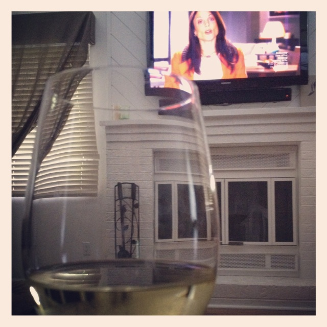 Caught up with Bethenny over a glass of vino