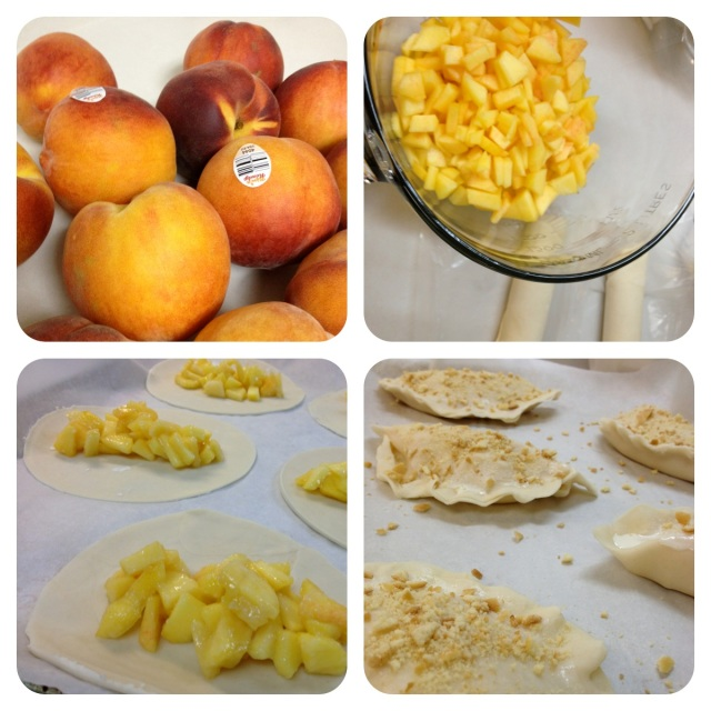Peach hand pies - the process