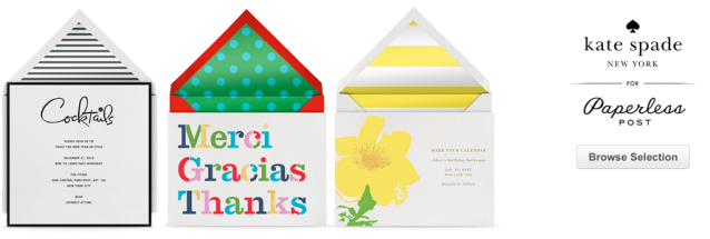 Kate Spade for Paperless Post