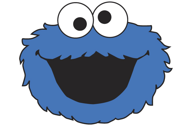 Refreshing image inside cookie monster printable