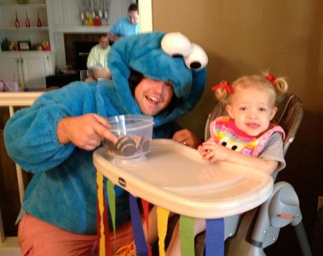 Uncle Markie as Cookie Monster