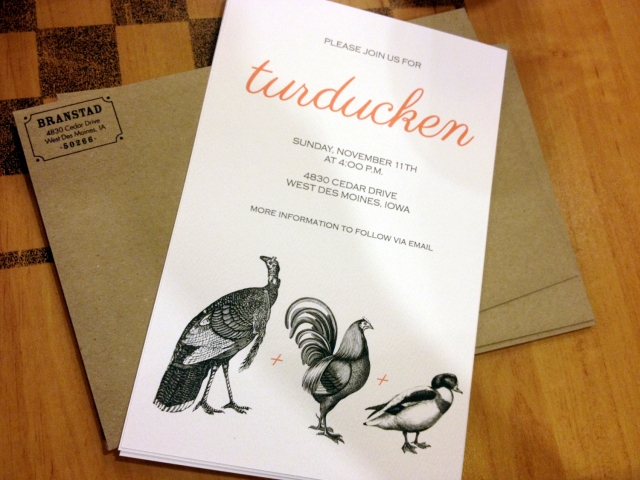 Turducken invitation 2012