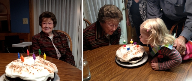 Grandma's birthday cake 2012