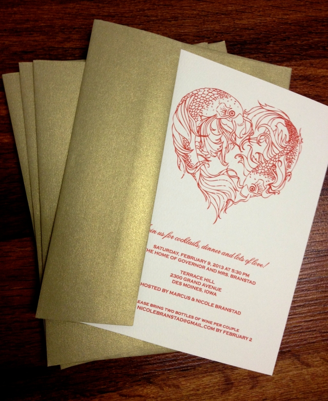 Big Night 2013 invitations