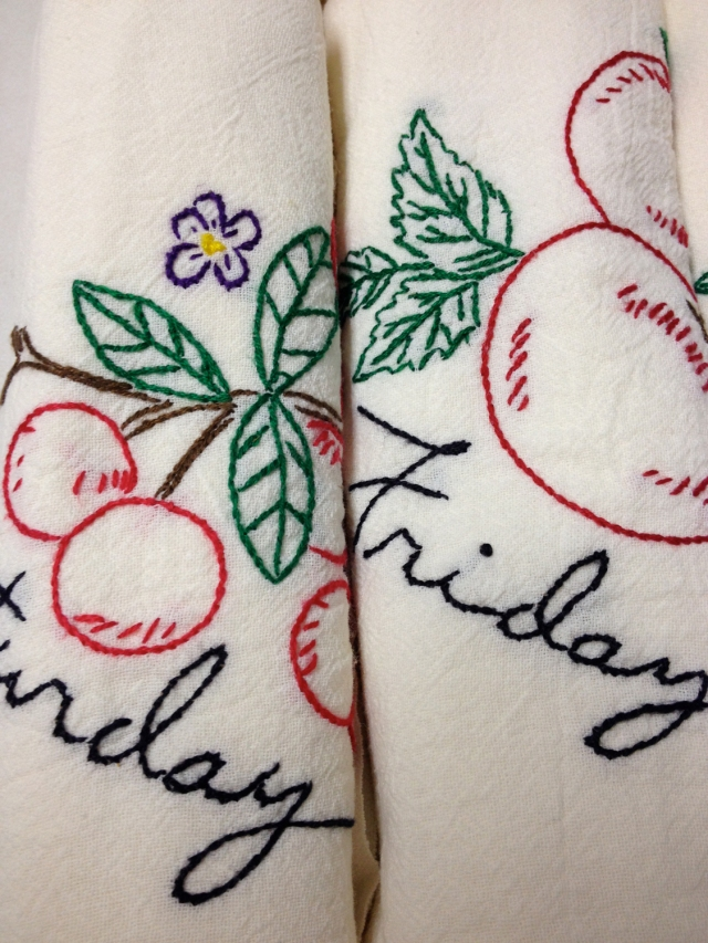 Grandpa Dreiling tea towels
