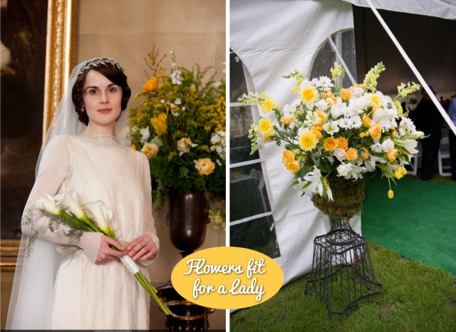 Downton Abbey Wedding Flowers