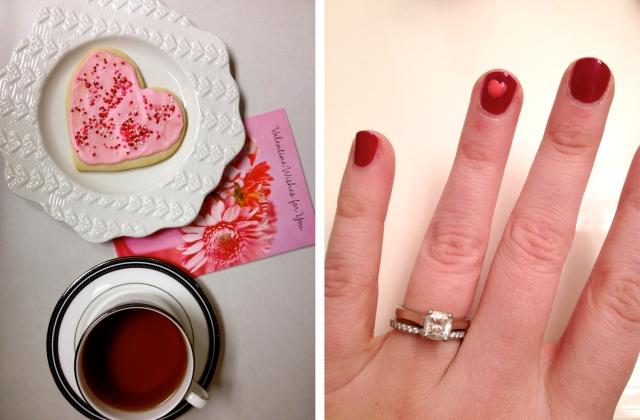 Valentine tea + mani