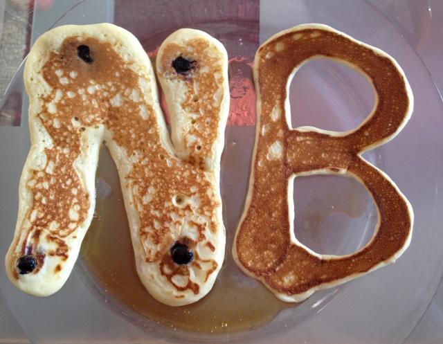 monogram pancakes