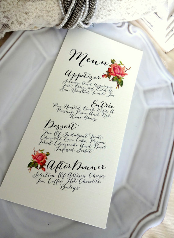 Sweet Pea Menu card_etsy