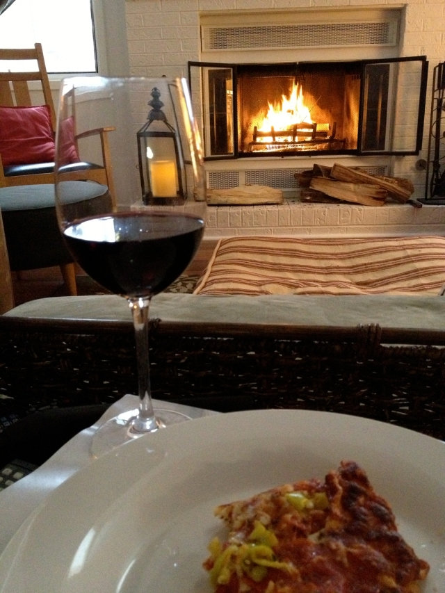fire, wine and pizza