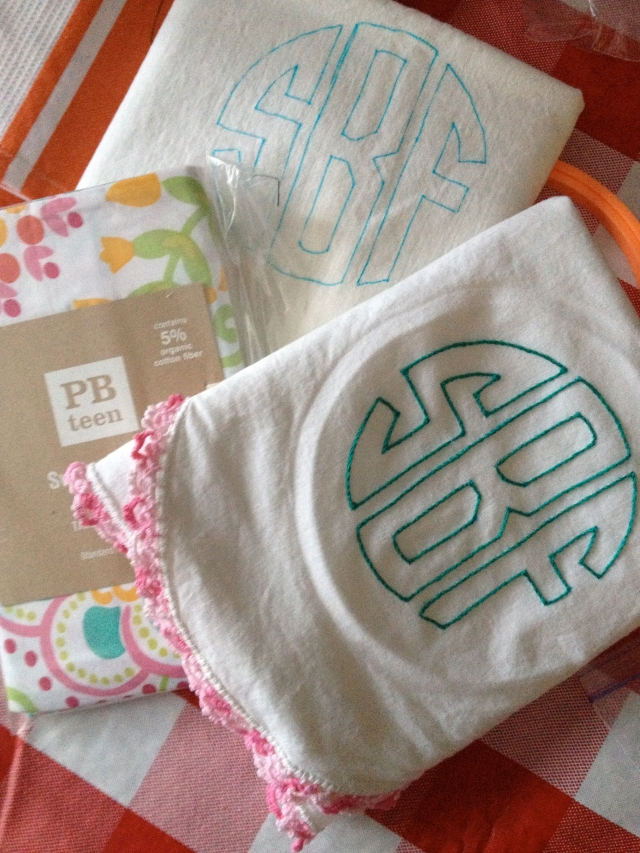 SFB monogram pillowcase