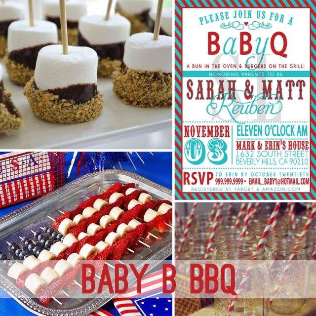 Baby B BBQ idea board