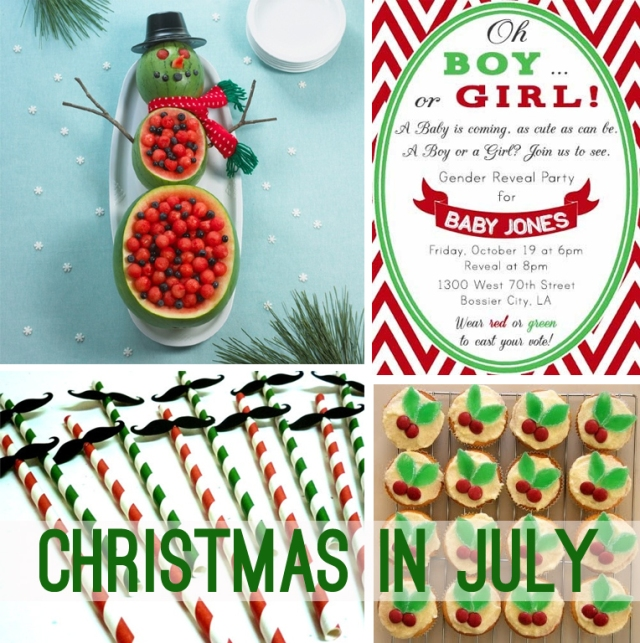 Christmas in July idea board