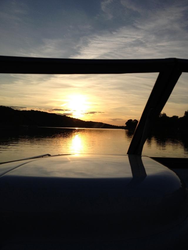 Lake Panorama sunset