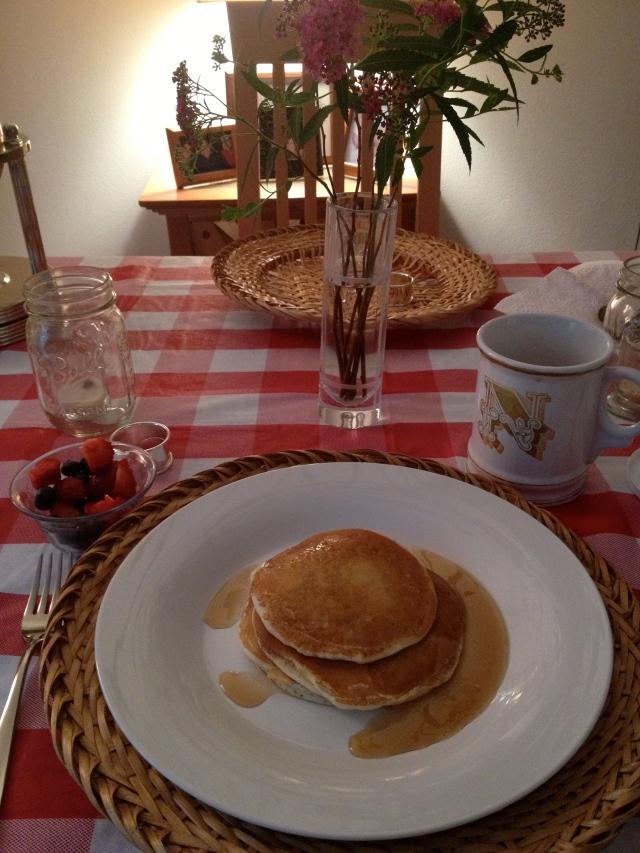 Sunday morning breakfast