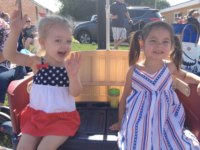 nieces at Urbandale parade