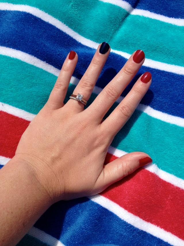 patriotic mani