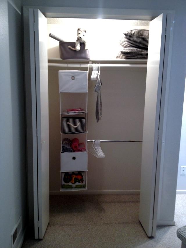 Baby B's closet