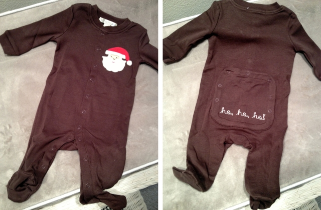 Baby B's first Christmas outfit