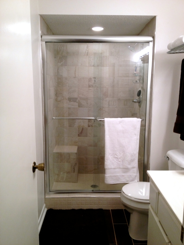 Completed shower