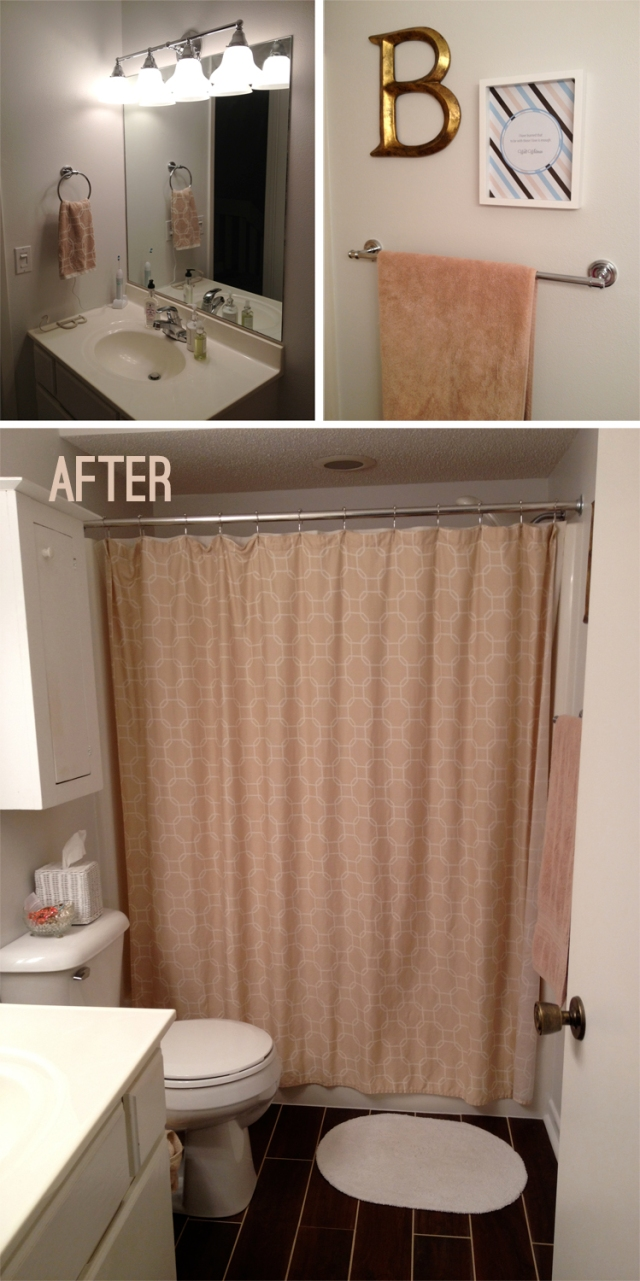 guest bathroom remodel: after