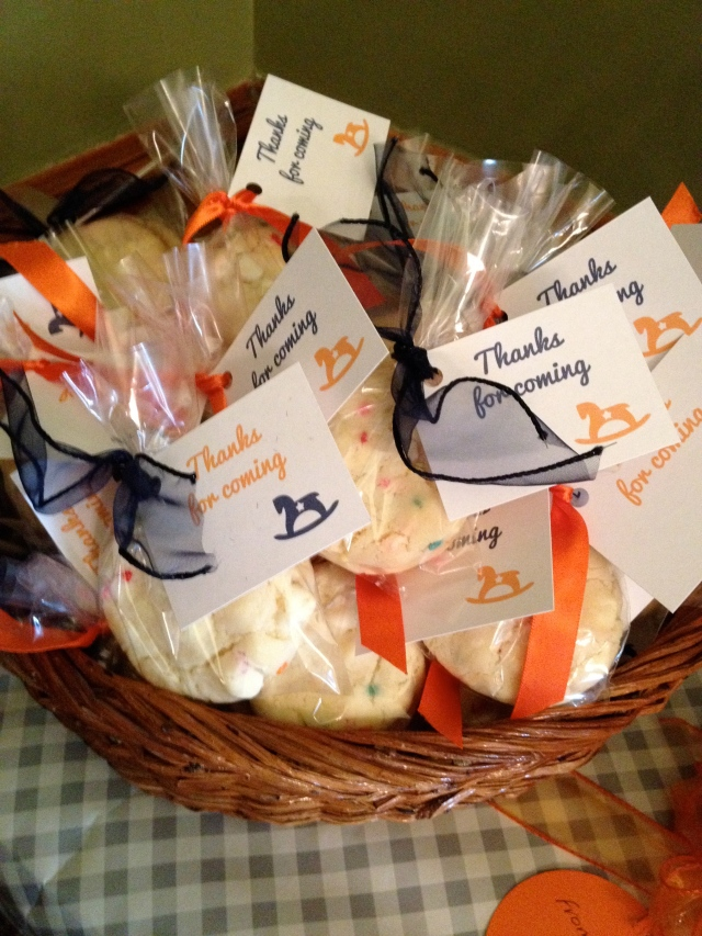 Terrace Hill baby shower - cookies
