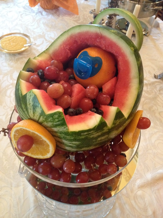 Baby shower watermelon