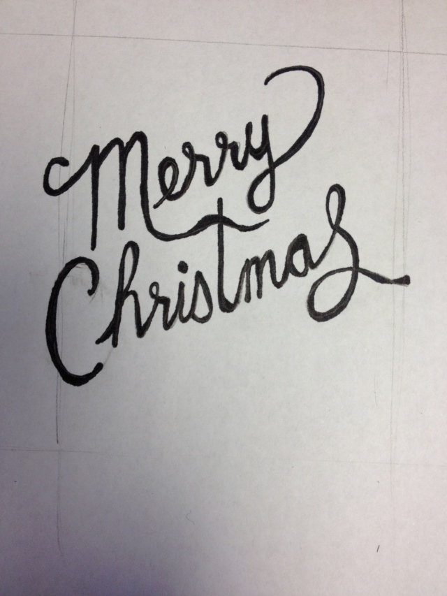 Merry Christmas - hand written