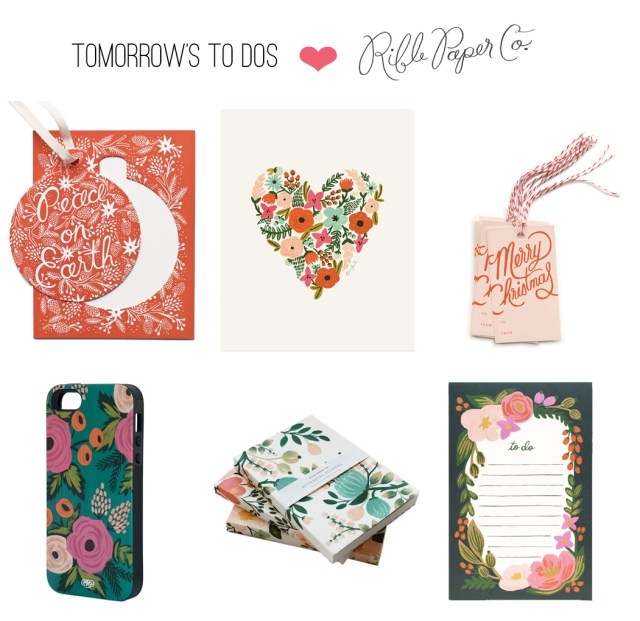 Tomorrows to dos loves RiflePaperCo