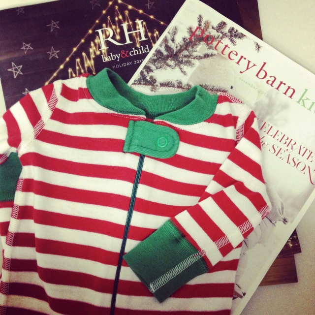 Holiday catalogs and Christmas jammies