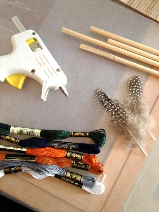 DIY wooden arrows: supplies