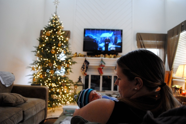 Christmas perspective: Evie + me