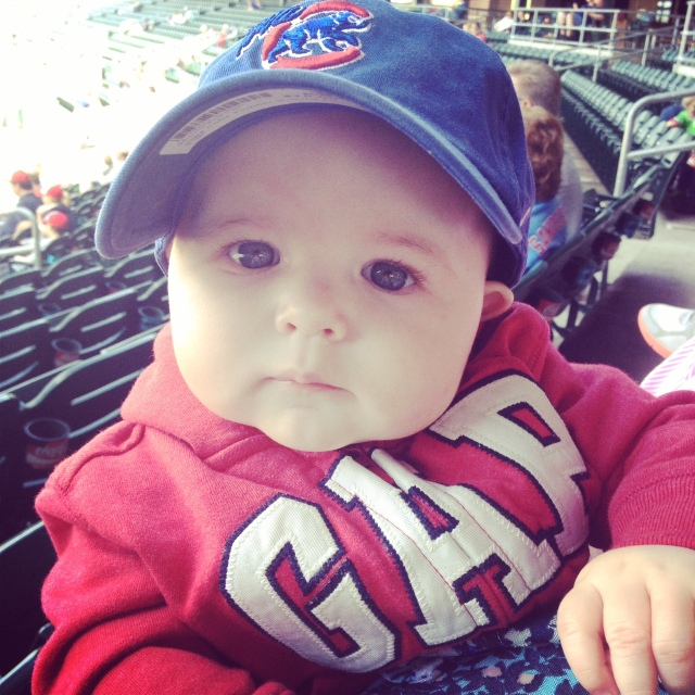 Evie's first ICubs game