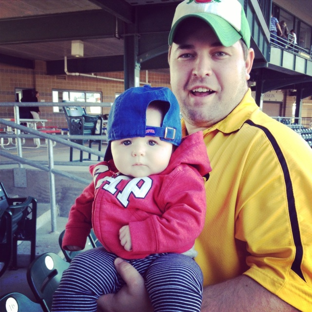 Evie and Daddy ICubs