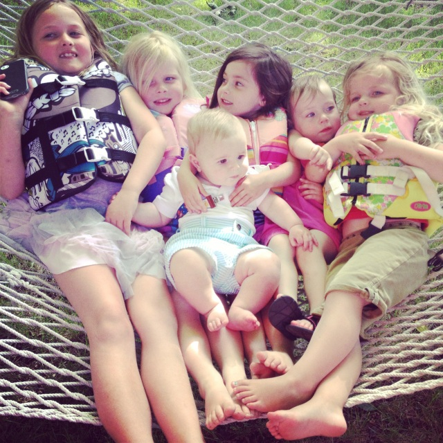 cousins on the hammock