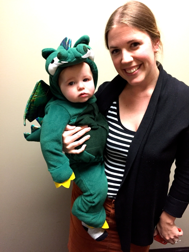 Everett as dragon + me
